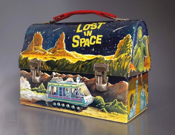 Box clever: the much-coveted 'Lost in Space' lunch box, released in 1967 by King-Seeley, with graphics by Nick LoBianco.