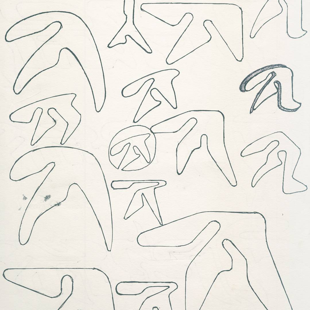 Taking shape: Paul Nicholson's original sketches were intended for a US skatewear label.