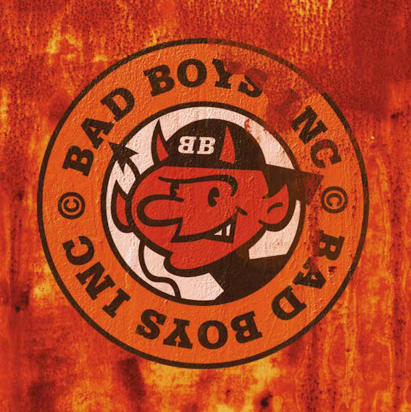 Hot stuff:'Scorch', the devilish mascot for Bad Boys Inc. was used on sleeves, merch and as a stage backdrop. ©Rian Hughes.