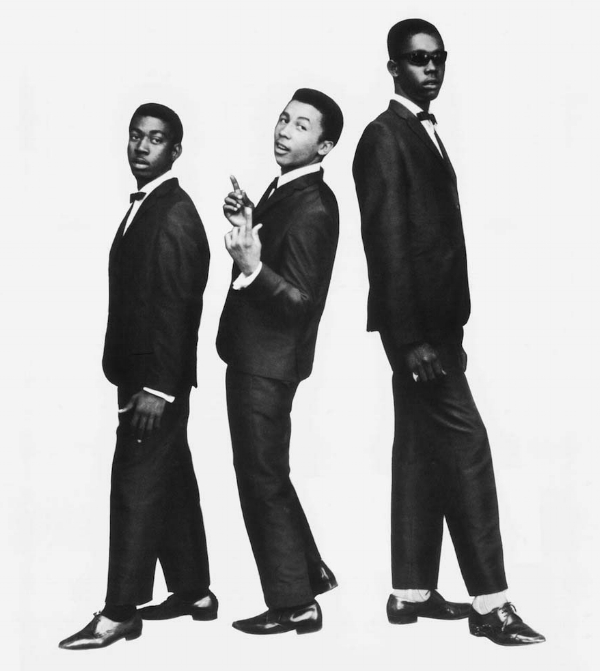 Making an impression: Peter Tosh (right) models for the 2-Tone logo. Who's that young dude in the middle?