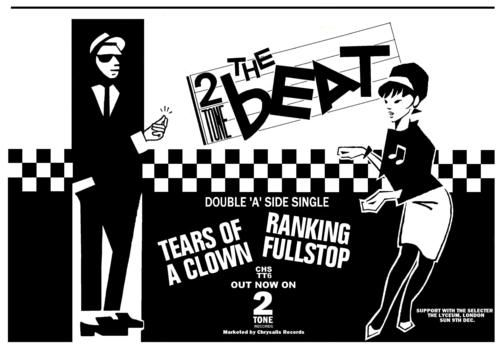 Ska, ska away: Betty (right) was The Beat's female answer to Walt. Designed by cartoonist Hunt Emerson from a newspaper cutting of Prince Buster dancing with a natty-looking lady, Betty was designed to attract more women to Beat gigs and lower testosterone levels.