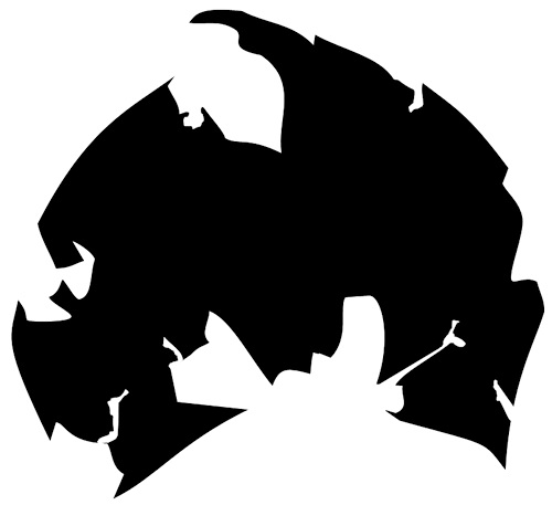 Upside-down you're turning me: Rapper and actor Method Man's personal take on the Wu-Tang logo, first used on his debut solo album, 'Tical' (1994).