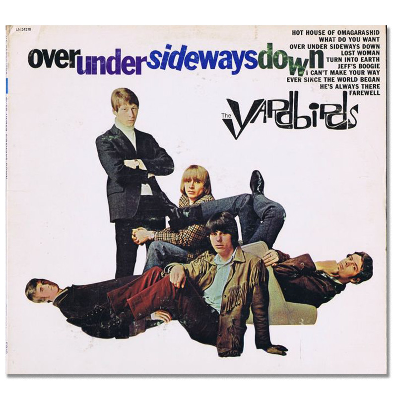 Sideways glance: the cover for 'Over Under Sideways Down', featured some seriously jazzy and playful typography. But still The Yardbirds logo manages to steal the show.