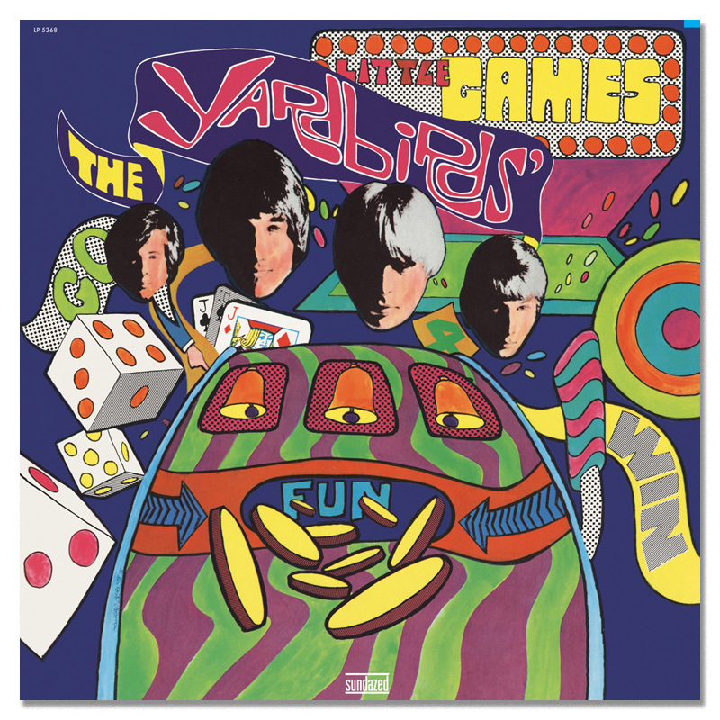 Game on: for their final studio album, The Yardbirds' lettering gets a trippy meltdown redraw, but still stays recognisable.