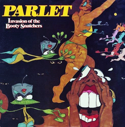 Parlez vous? Parlet was an all-female P-Funk spinoff group formed by Mallia Franklin, Jeanette Washington and Debbie Wright. This was their second album, released in 1979. Art by Ronald 'Stozo' Edwards.