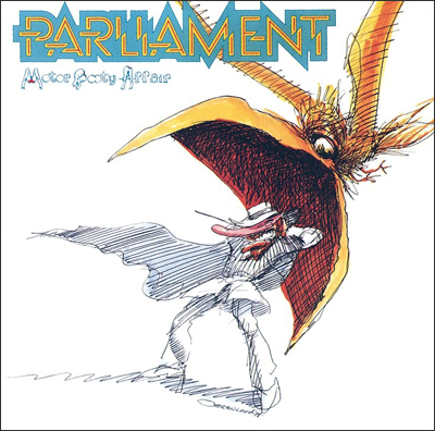 Over and above: Overton Loyd, who conceived the sleeve art Parliament's 1978 LP 'Motor Booty Affair' (above) also designed costumes and directed videos for the prolific funk collective.