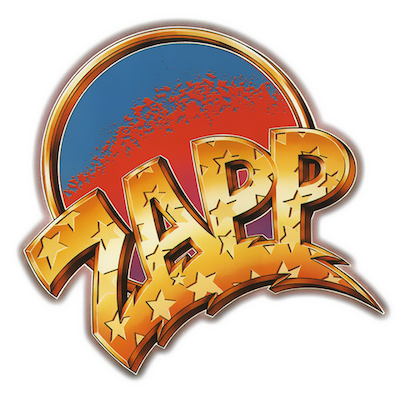 Second helping: For 'Zapp II' (1982), a more orthodox logo by Simon Levy was introduced. This borrowed elements from Stozo's original and went on to become the band's signature marque.