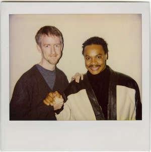 Zapp snap: interviewer Norman Hathaway with Zapp's Roger Troutman in 1992.