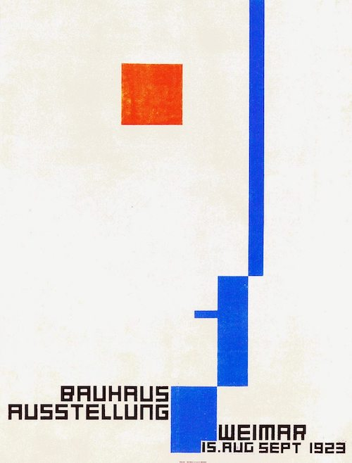 About face: In his seminal book on Bubbles, Paul Gorman cites Bauhaus posters, in particular Fritz Scheifer's geometric, abstracted face above, as a major influence on the Blockhead logo.