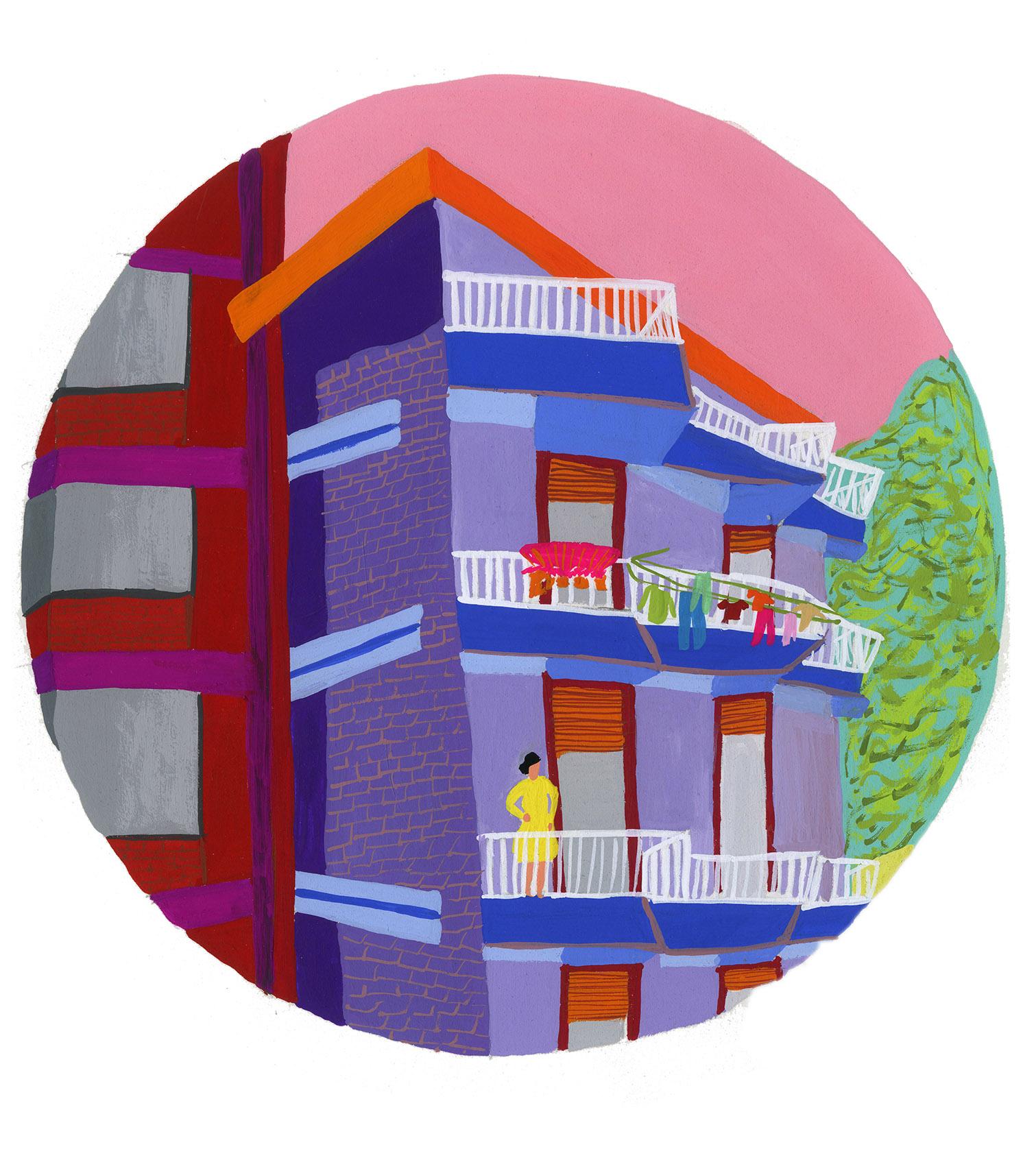 Lady Balcony Apartment Illustration .jpg