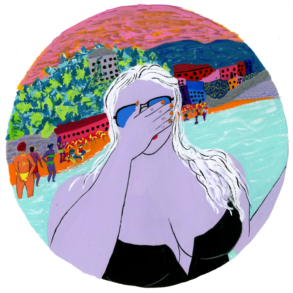 Thick Woman on Beach Illustration.jpg