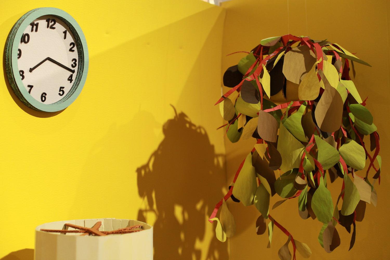 Yellow Cardboard Room Set Clock.JPG