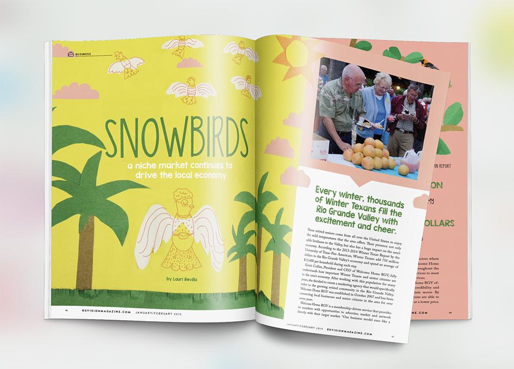 rgvision magazine  editorial design