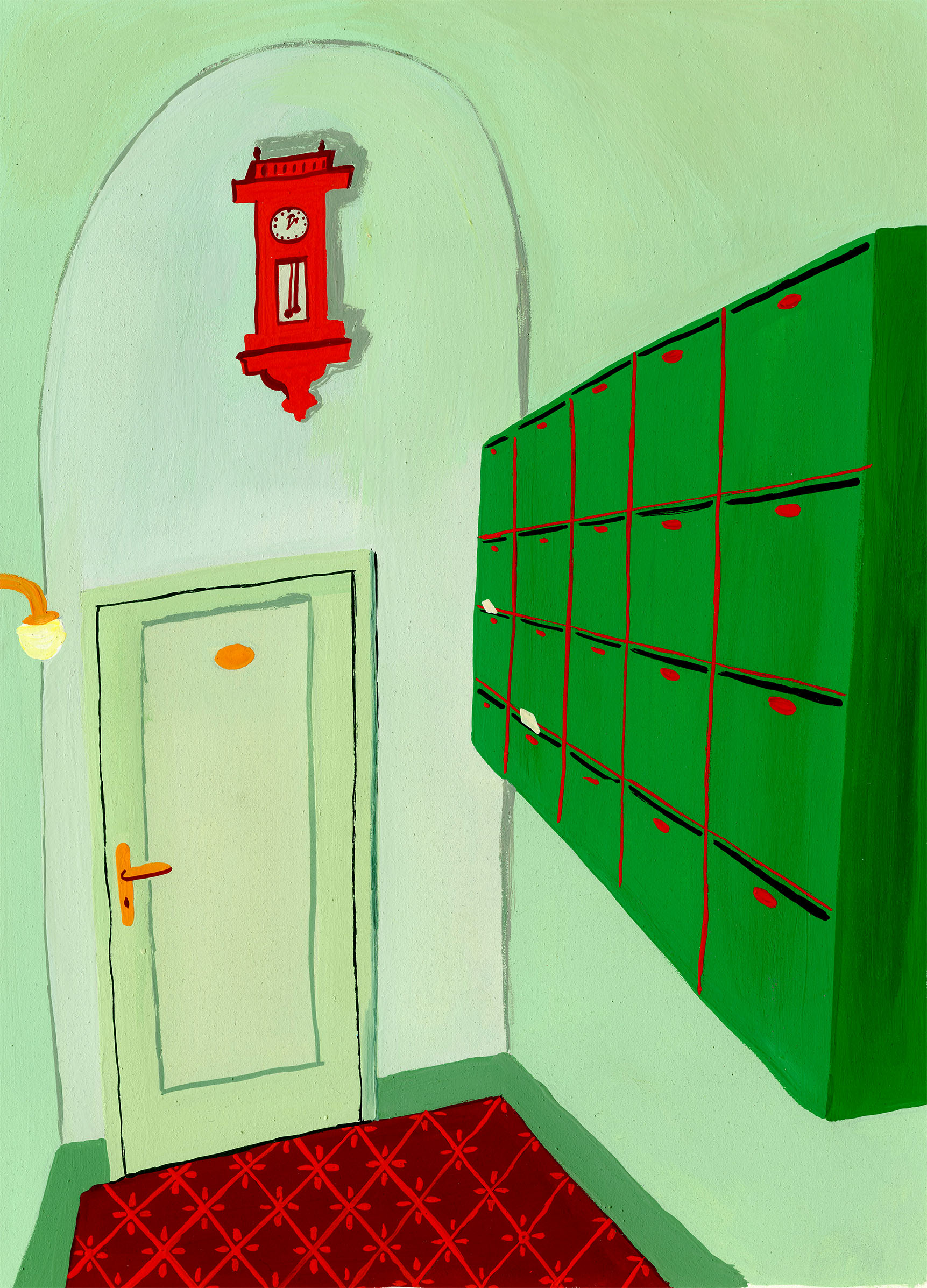 Green Apartment Mailroom .jpg