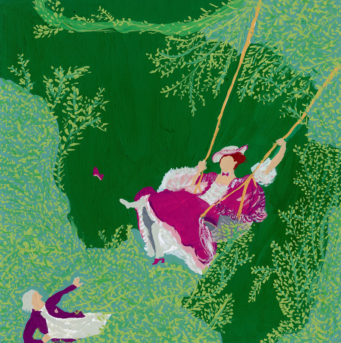 Fragonard Painting Woman on Swing Illustration 100 Day Project .jpg