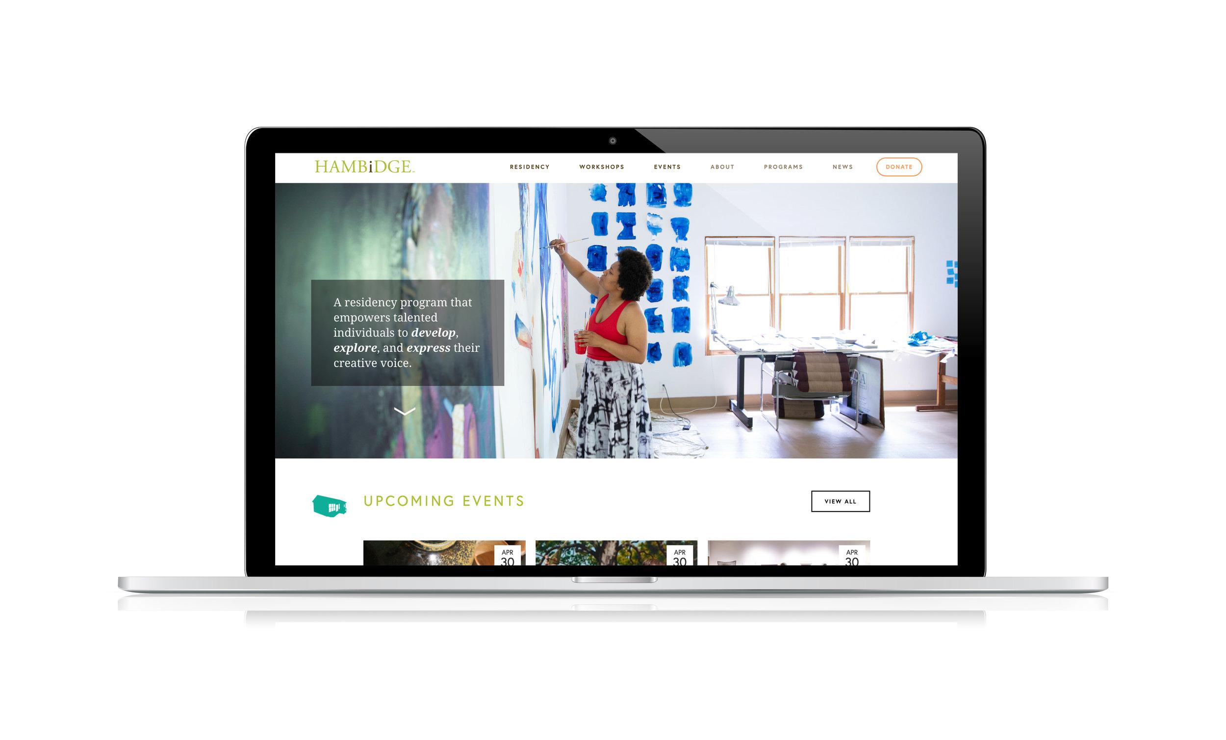 Hambidge Artist Residency website