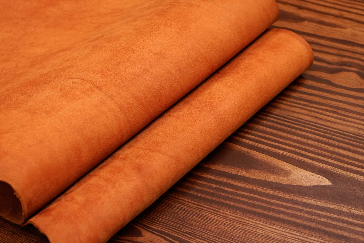 """Pueblo - This Italian """"pueblo"""" is a very particular vegetable tanned leather from an artisanal tannery in Tuscany. Pueblo leather is known for its signature stone polished finish and rich aroma as well as its ability to age gracefully and dramatically."""