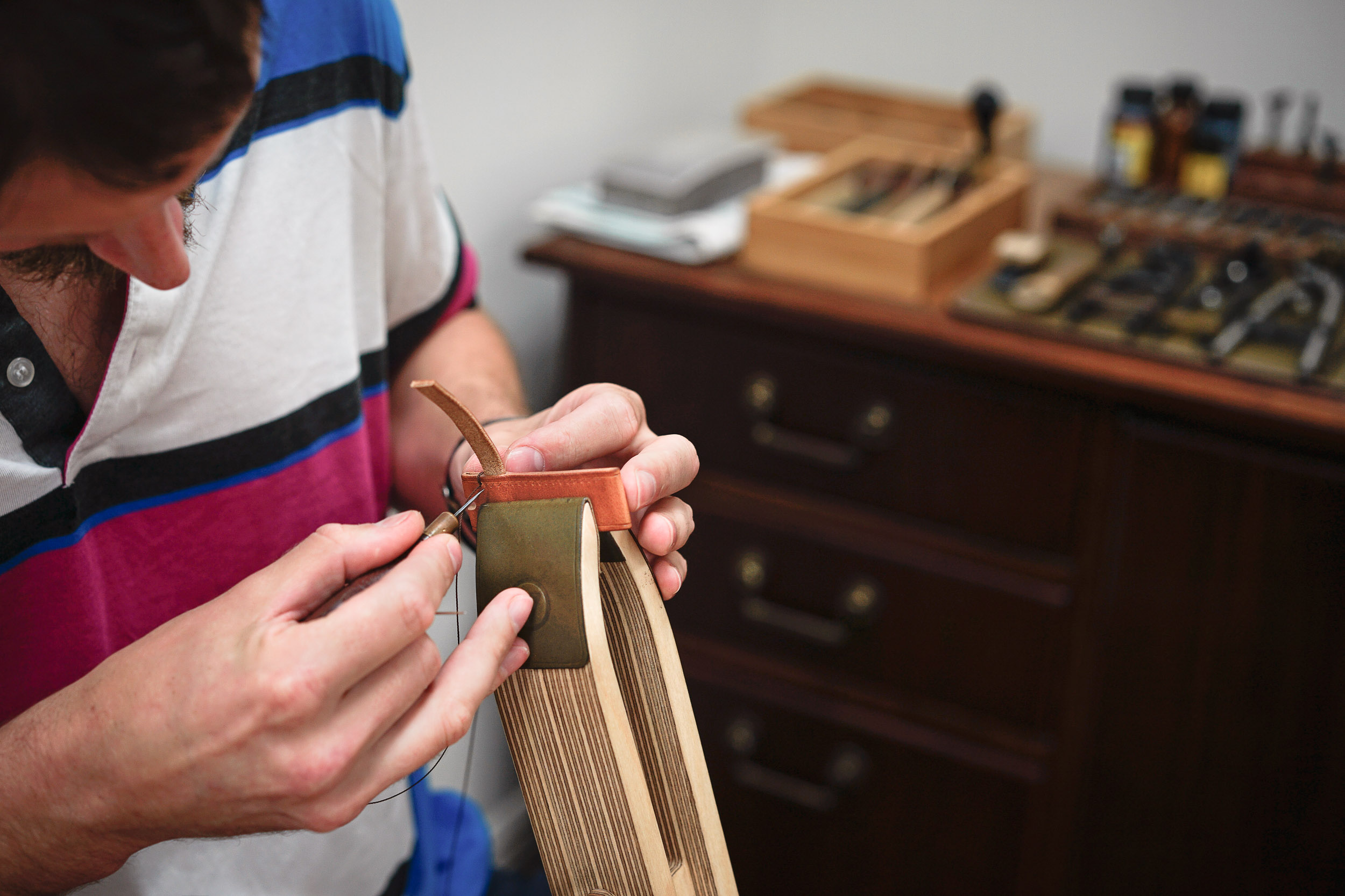 hand saddle stitching
