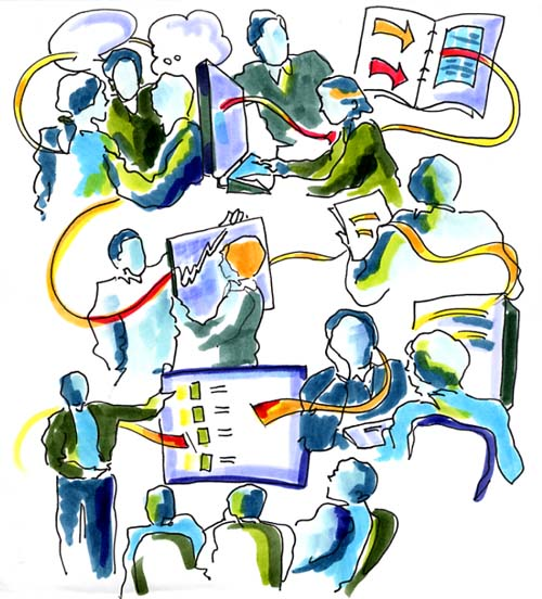 Information Flow Mindscape by Nancy Margulies: for more information contact   Nancy Margulies  or visit   www.nancymargulies.com .