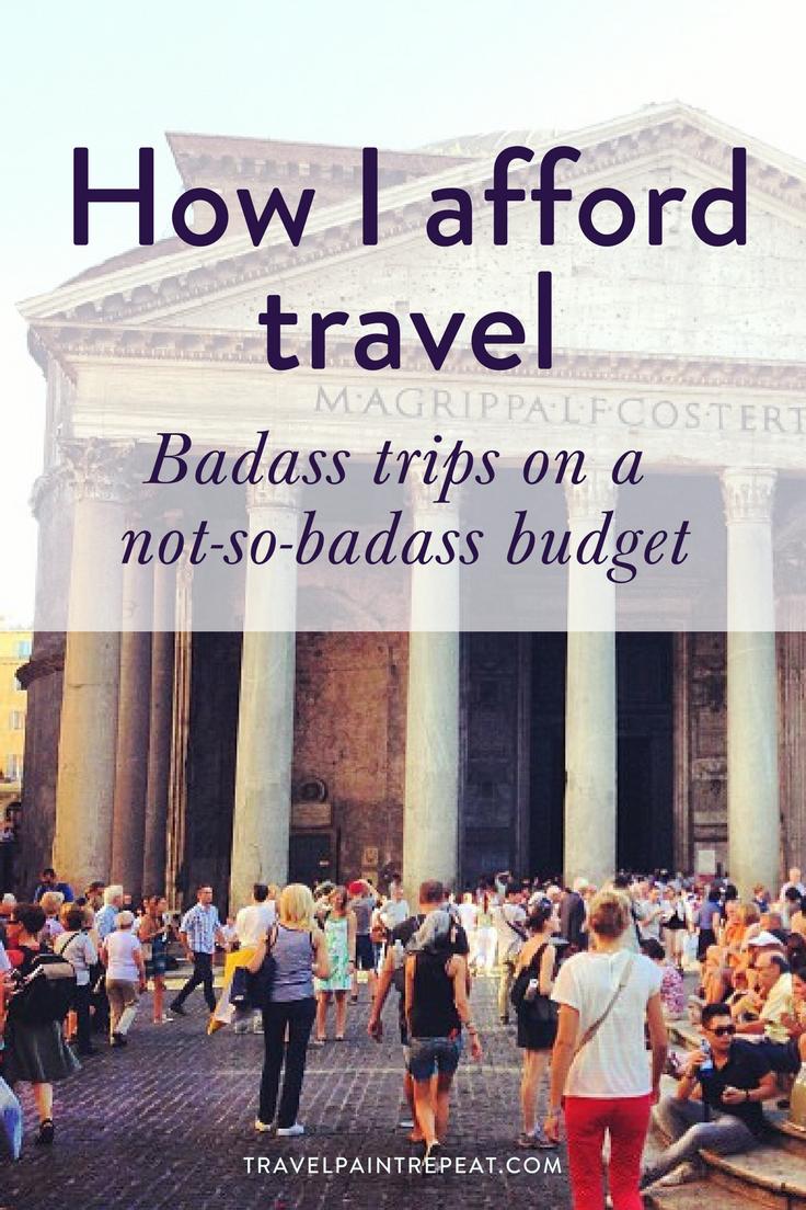 how i afford travel pinterest