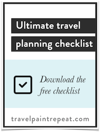 Free travel planning checklist - TravelPaintRepeat.com