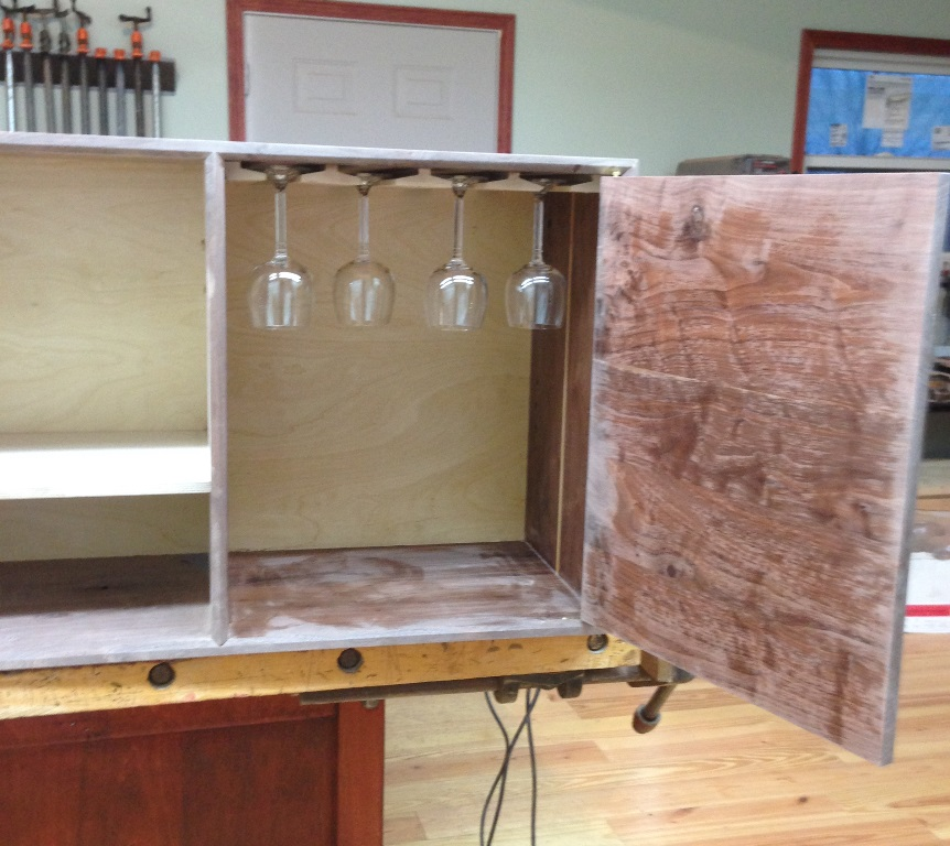 Oops, I used plywood for the back of this credenza. Would Steve Jobs buy it?