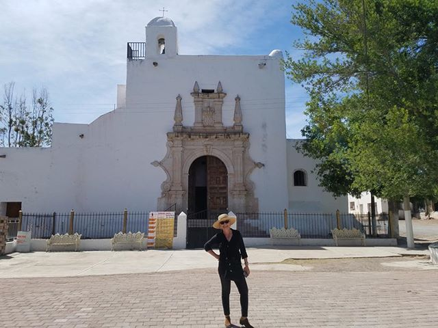 The village church in Santa Maria de Cuevas, Chihuahua, Mexico, the ancestral home of my 2nd great grandmother, Martina Gonzales.