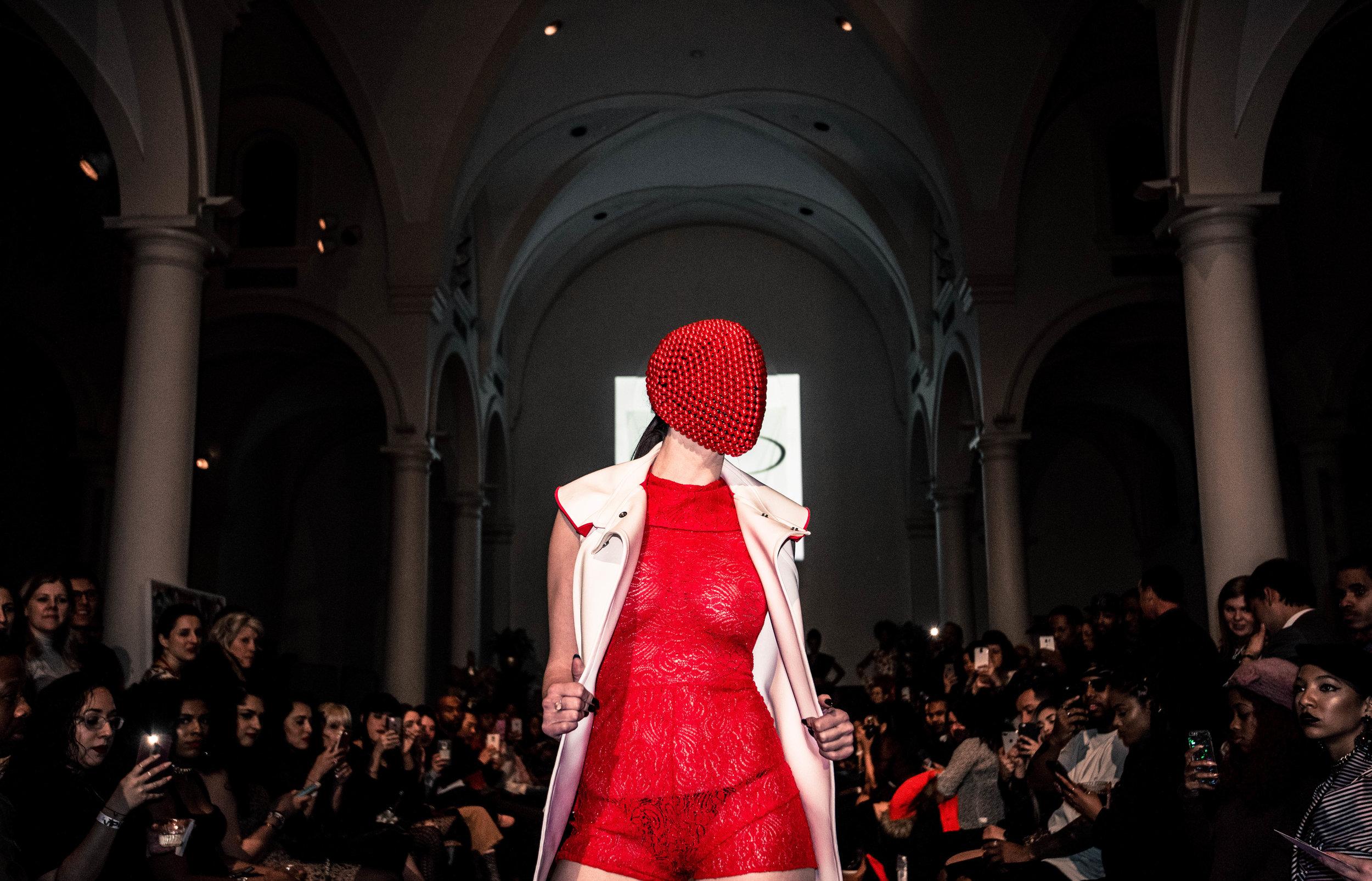 Shot by Barbora Pazourkova |  Designer: Bradley D. Jordan | CoutureMask™  |   A Fashion Night Out