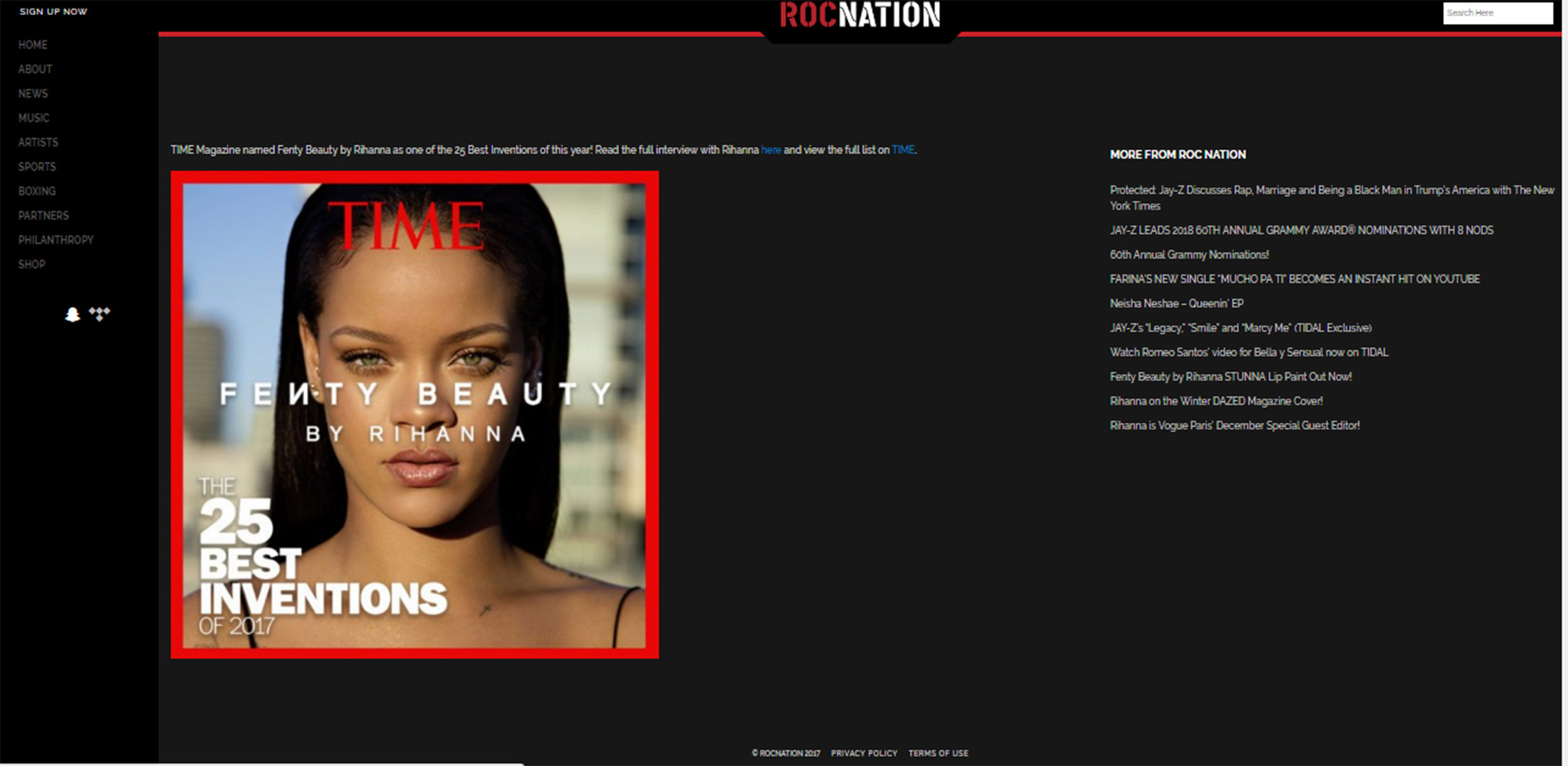 Roc Nation | TIME Best 25 Inventions of 2017