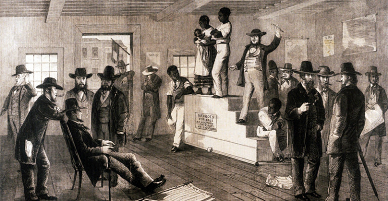 A Slave Auction in Virginia; 1861