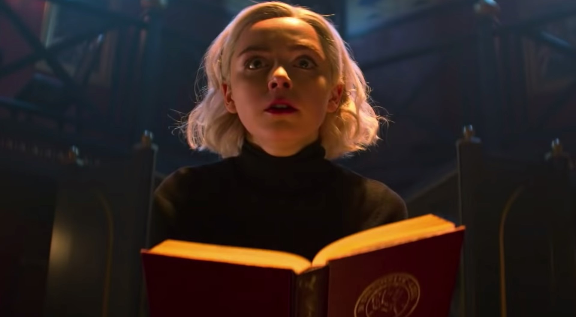 Sabrina spellcasting in counter to an attack in Part 2 / Courtesy of Netflix