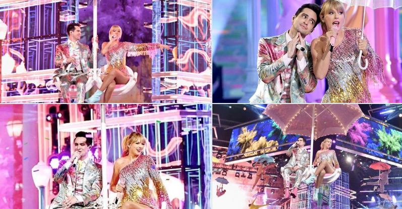 Taylor Swift & Brendon Urie Performing 'ME!' in Las Vegas at the BBMA's / Twitter @TaylorSwift13