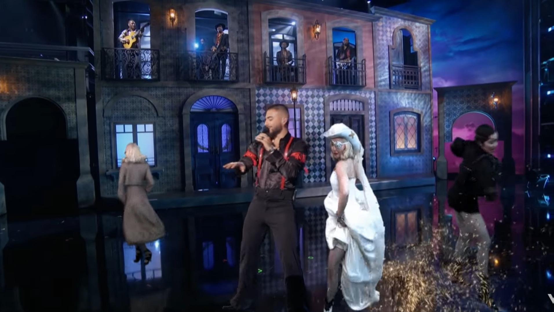 Courtesy of Vevo /Madonna & Maluma performing  'Medellín' ..