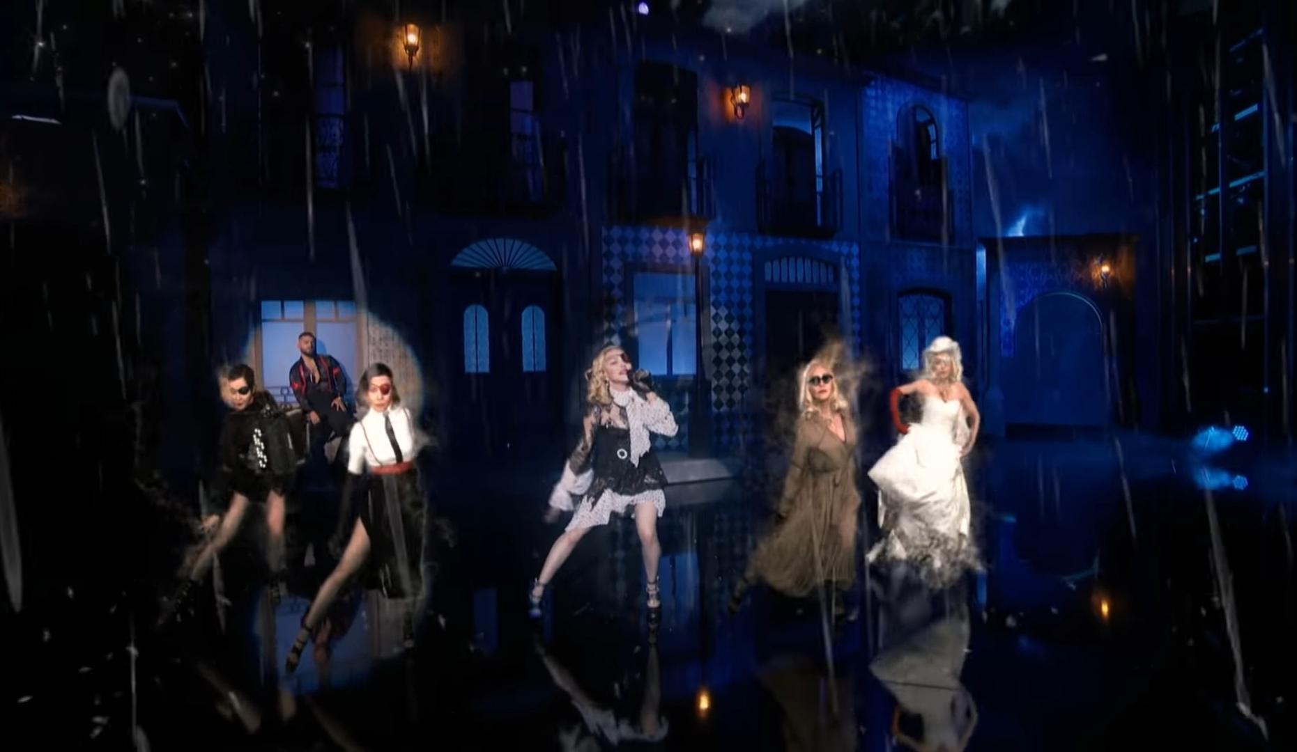 Courtesy of Vevo /Madonna performing  'Medellín' . also virtually choreographed.
