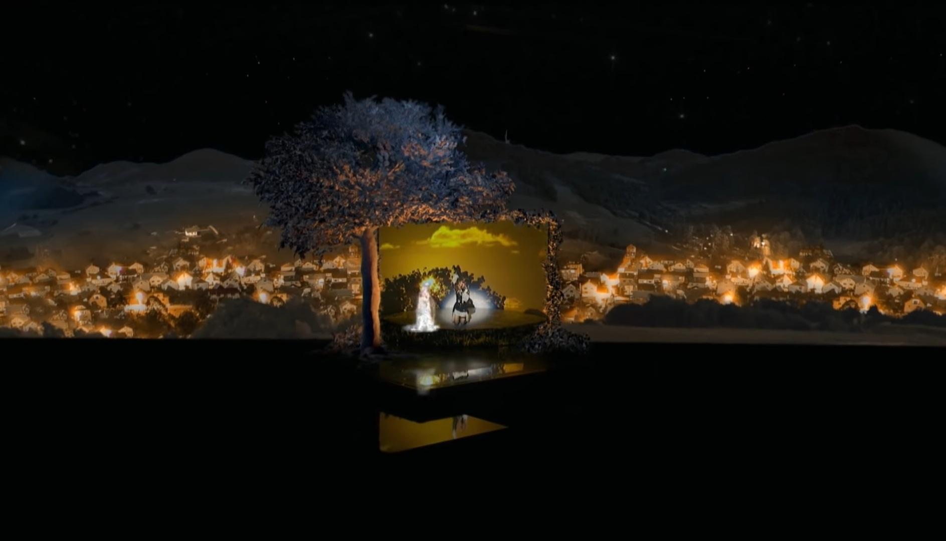 Courtesy of Vevo/ Anamorphic span of Madonna performing  'Medellín' ..