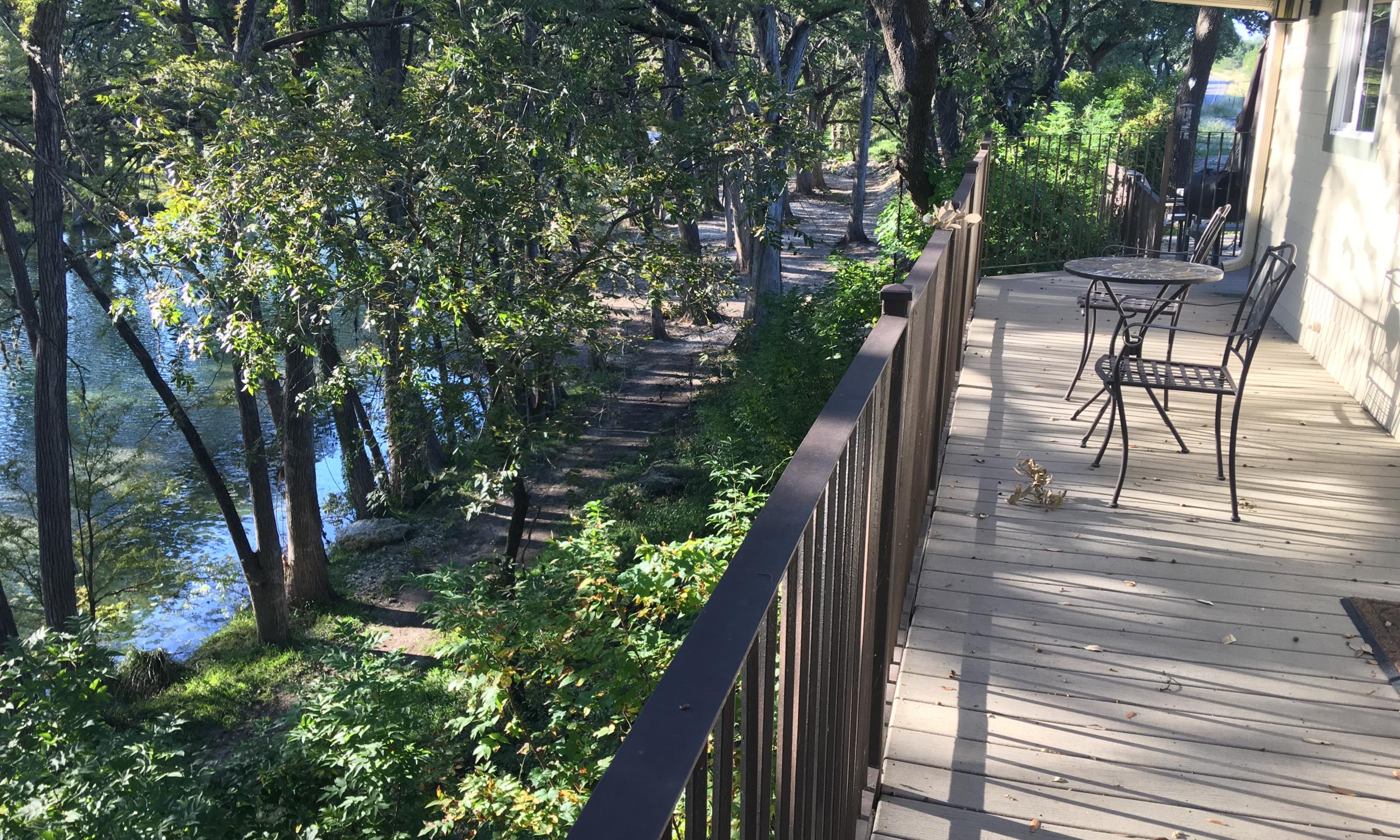 Nueces Cabin - Balcony View