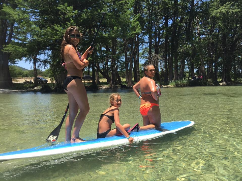 Paddle-Boarding on the Frio