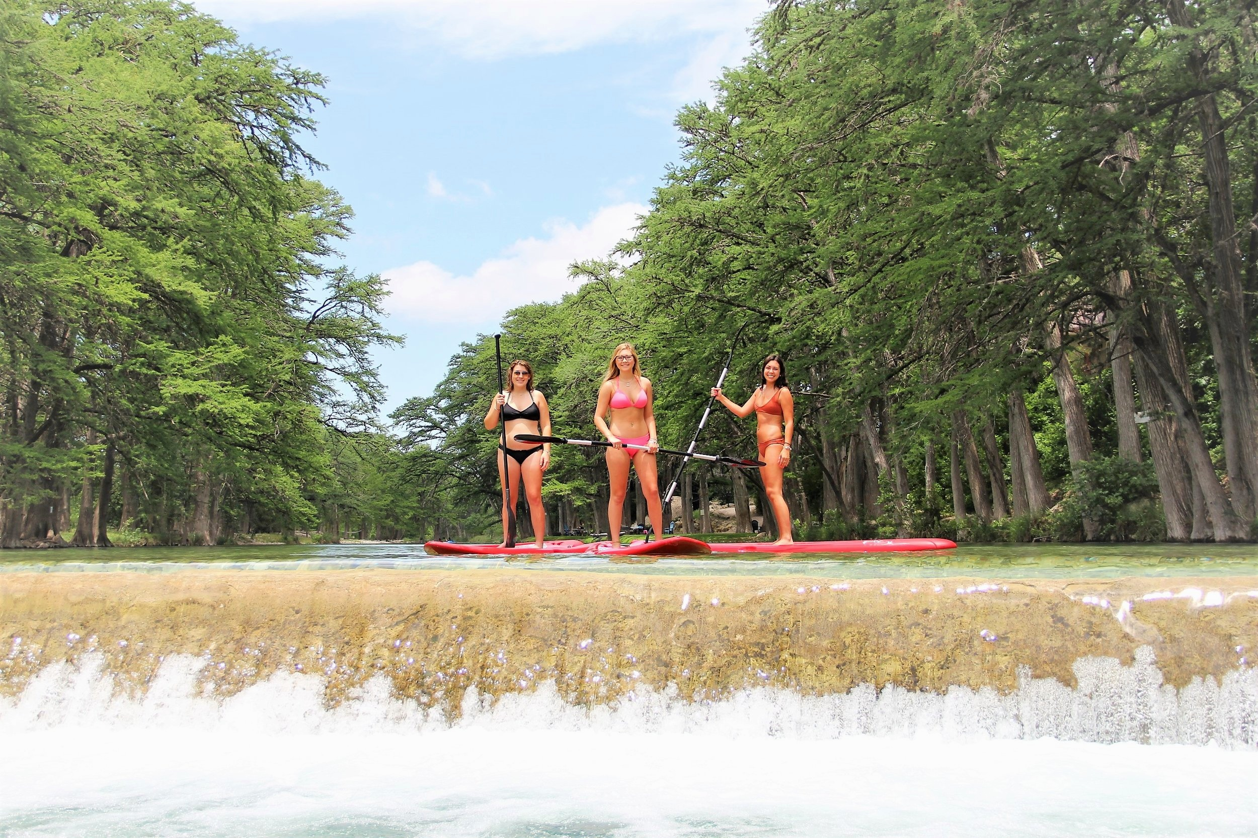 Paddleboards on the Frio