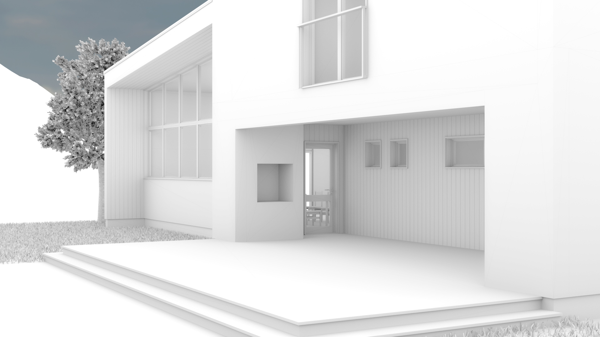 Modern House wireframes