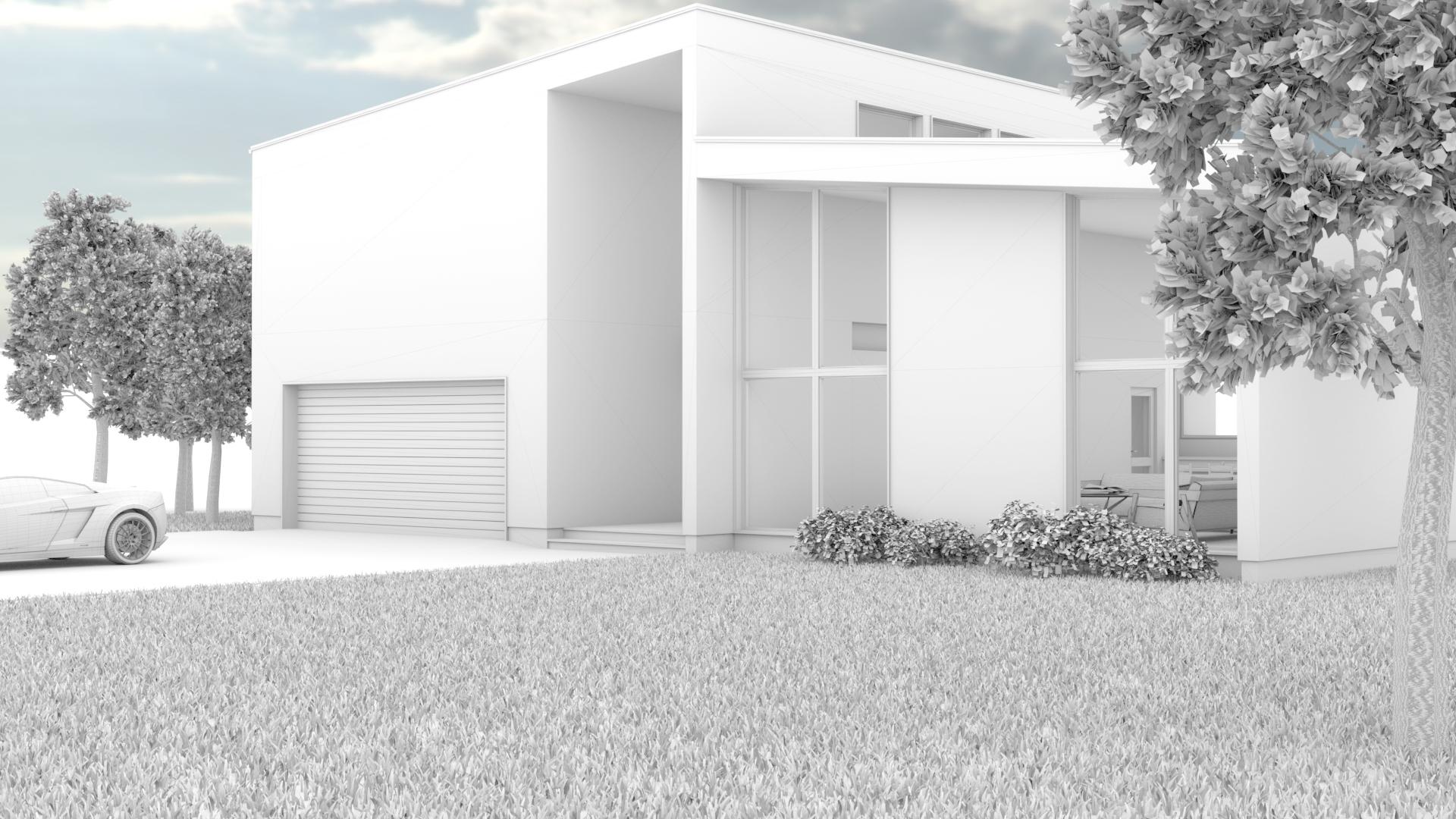 Modern House wireframe