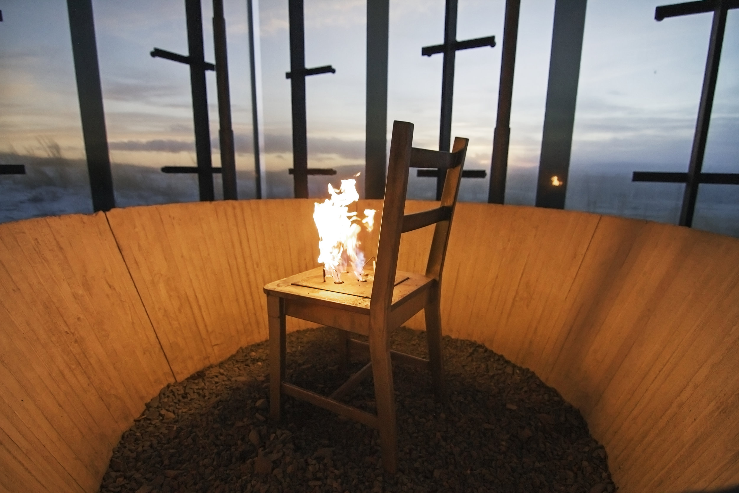 For ever burning chair