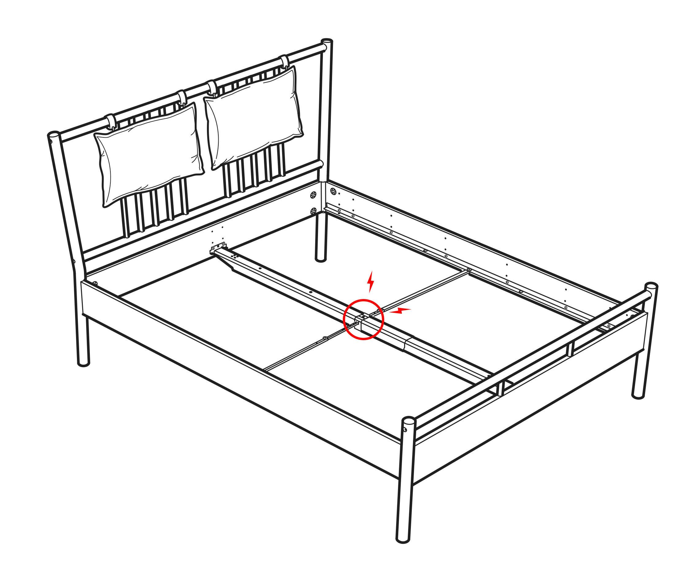 Ikea Björksnes Bed Jhåland, Ikea Black Metal Bed Frame King