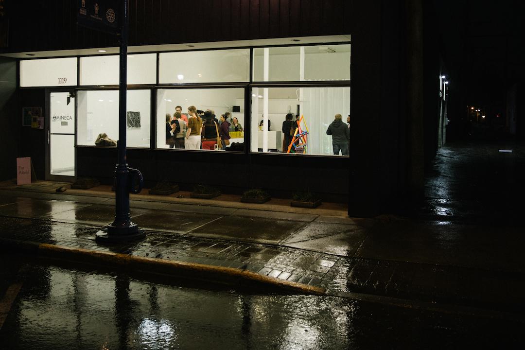 Disturbances in the Field.  Exhibition opening. Photo by Denis Gutiérrez-Ogrinc.