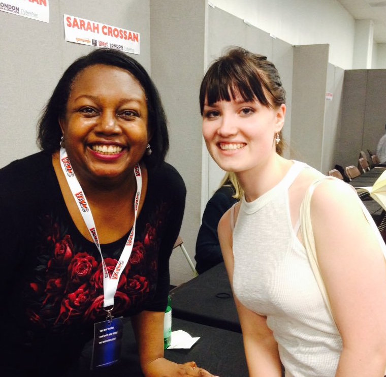 Kate meets Malorie Blackman, OBE,who held the position of Children's Laureate from 2013 to 2015.