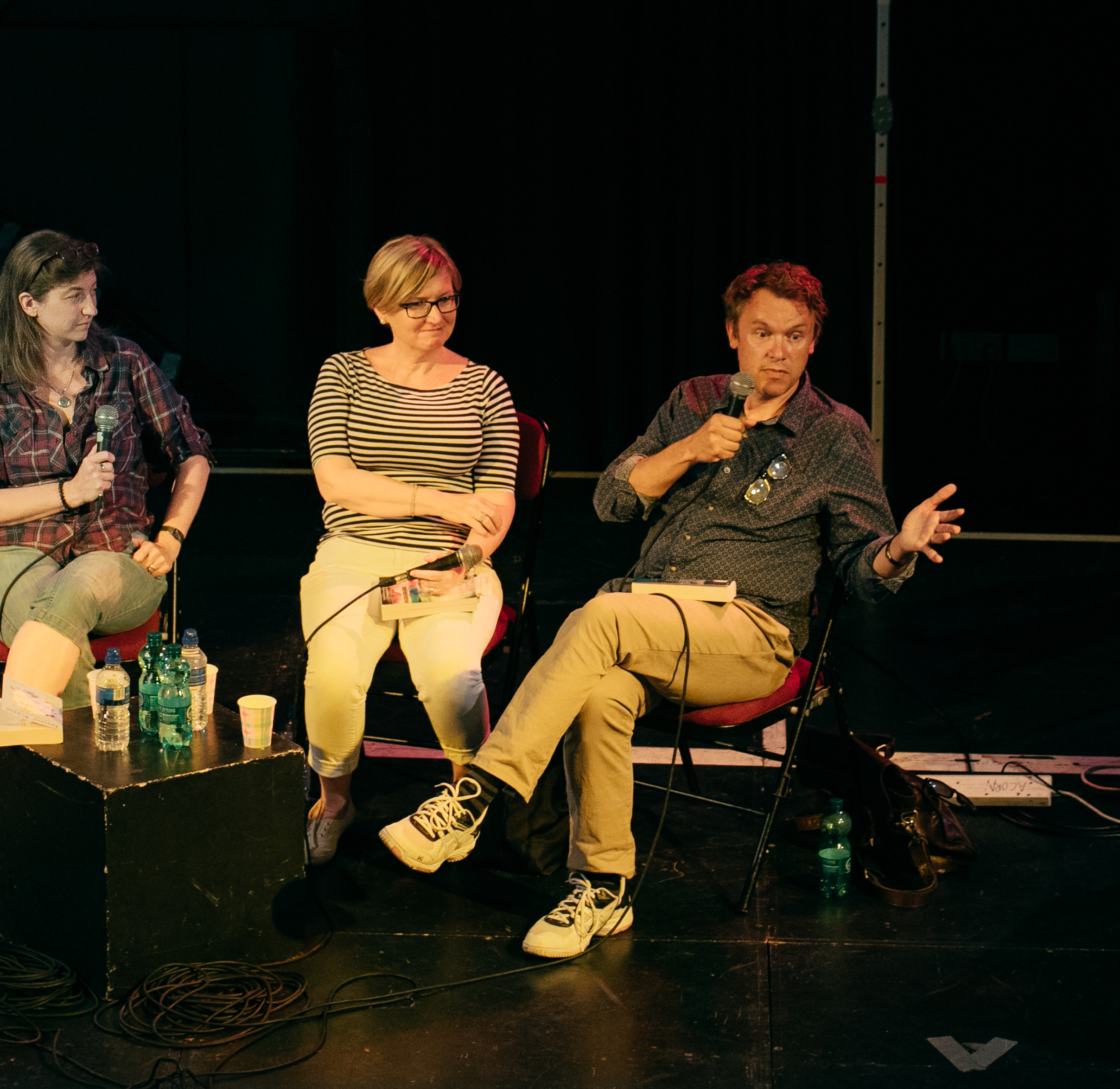 Chris Vick appearing at Penzance Literary Festival, July 2017