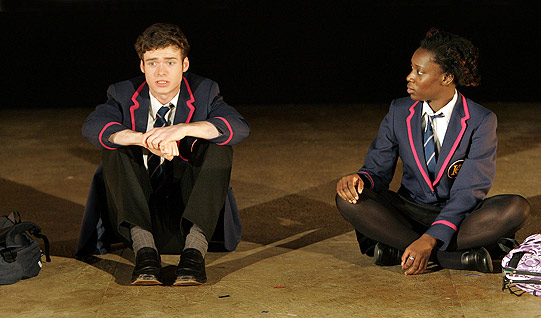 Image from stage adaptation of  Naughts and Crosses  by the Royal Shakespare Company, 2008