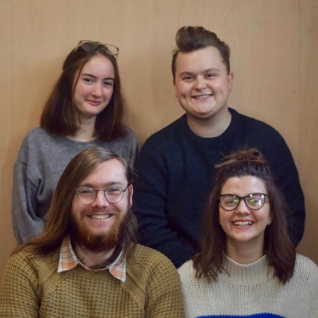 Maisie, Dan, Alex and Gemma, the 3rd students founders and leaders of  Collective