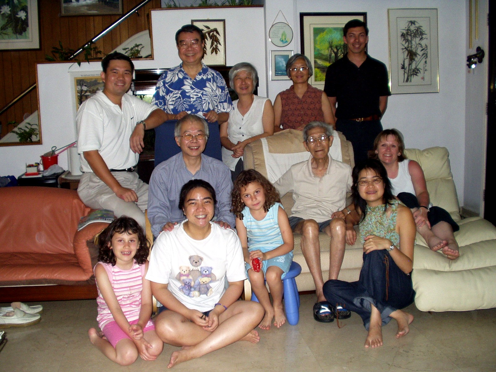 My family with Great Grandpa Kiang.