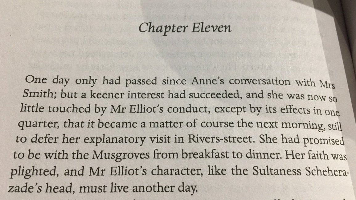 At the end of the first paragraph in this chapter of  Persuasion , I can sort of claim that Jane Austen specifically names me. My parents spelled mine differently.