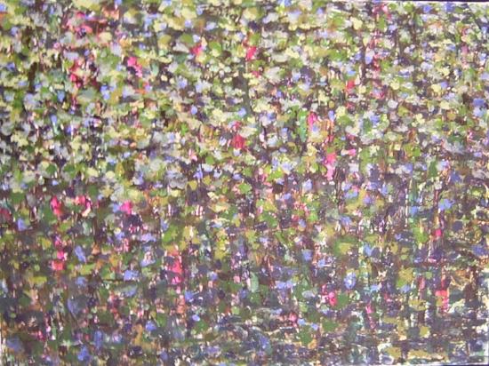 """DEAR DIARY 10: AMUSED & BREATHING   , 2004 24"""" x 17 ½"""" x ¾"""", mixed media on canvas"""